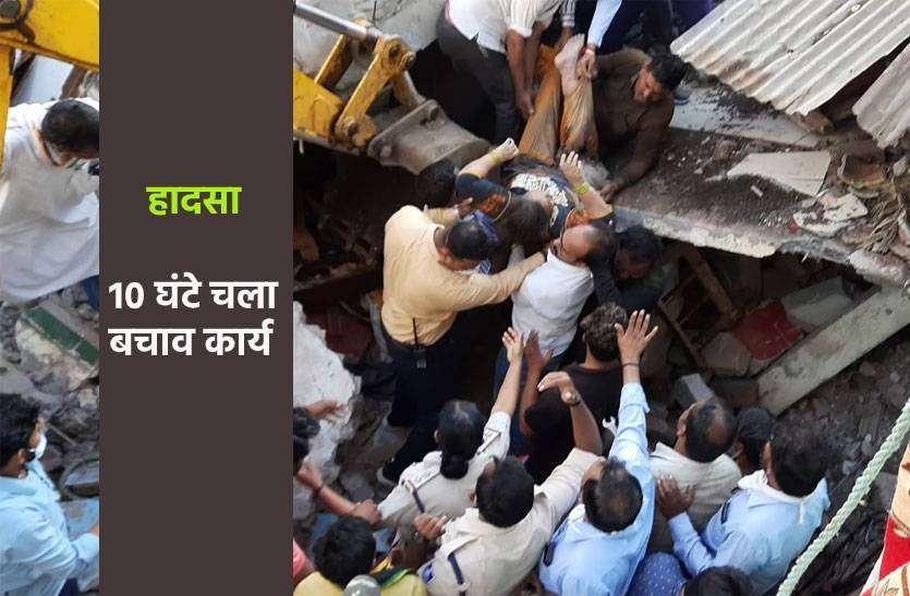 दो मंजिला बिल्डिंग गिरी, अब तक दस लोगों को सुरक्षित बचाया, दो लोगों की मौत, देखें UPDATE
