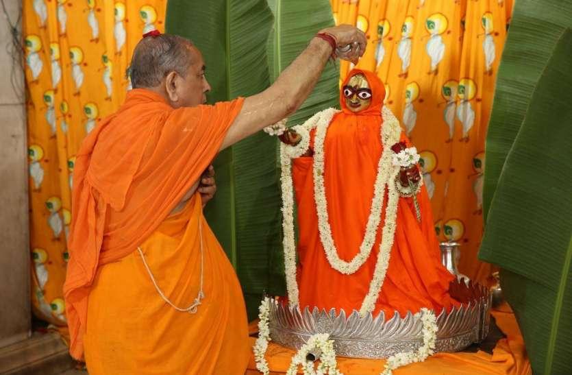 राधा-कृष्ण मंदिरों में सादगी से मनाया राधाष्टमी उत्सव