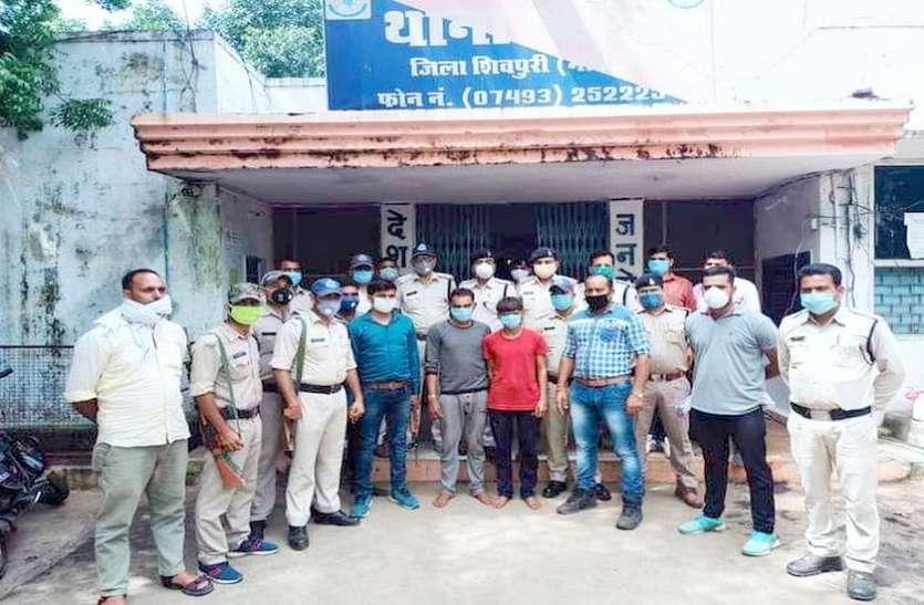 दोहरे हत्याकांड में फरार 10 हजार रुपए का इनामी बदमाश दबोचा