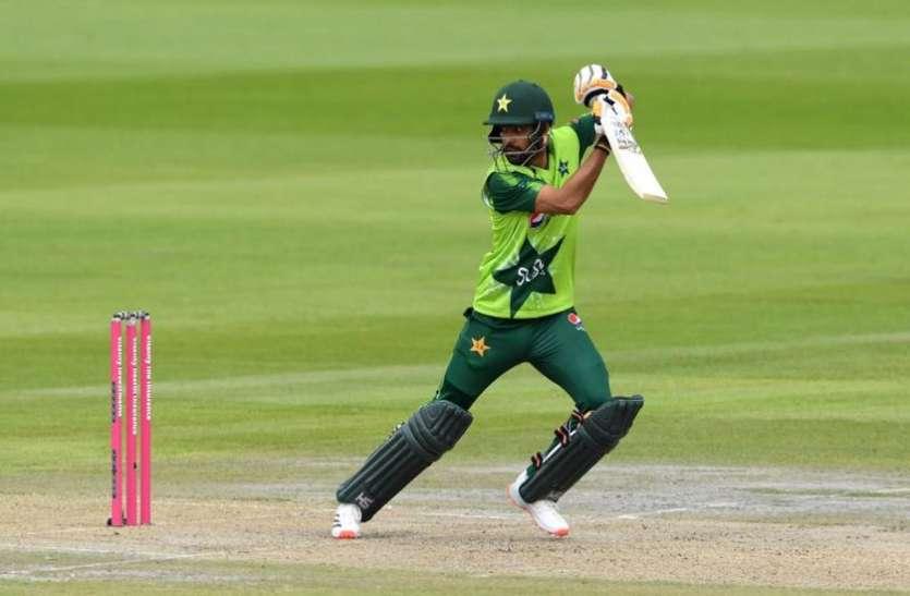 Eng vs Pak : बाबर आजम और मोहम्मद हफीज का तेज पचासा, इंग्लैंड को मिला 196 रनों का लक्ष्य
