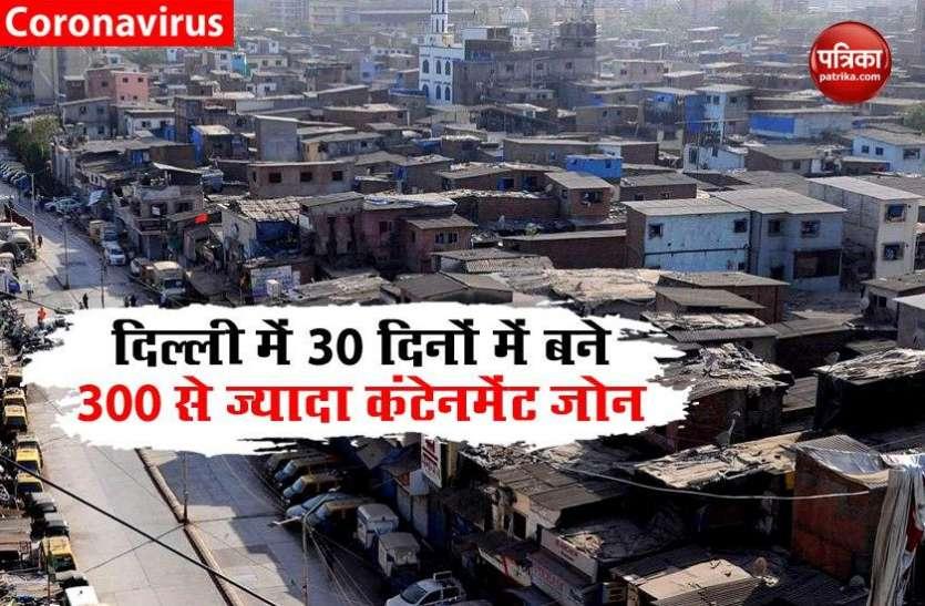पिछले 30 दिनों में Delhi में बनाए गए 300 से अधिक Containment Zone, बढ़ रही है Corona संक्रमण की रफ्तार!