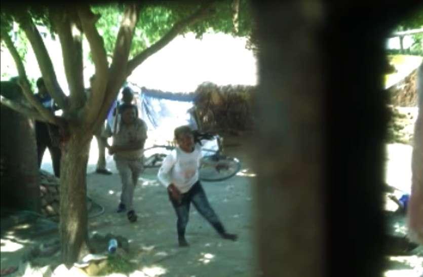 Beaten by Jaunpur Police