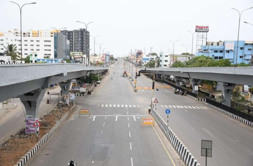 रविवार को तमिलनाडु की सडक़ों पर सन्नाटा, पूर्ण लॉकडाउन में रहा सबकुछ बंद