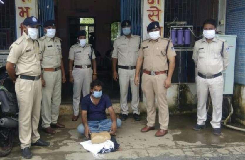 3 किलो 734 ग्राम गांजे के एक आरोपी गिरफ्तार