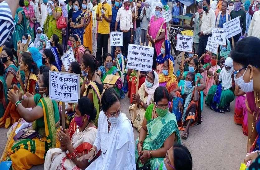 बालोद: जिला प्रशासन और पुलिस कार्रवाई से नाराज हजारों आदिवासियों ने किया उग्र प्रदर्शन, पुलिस के साथ झुमा-झटकी