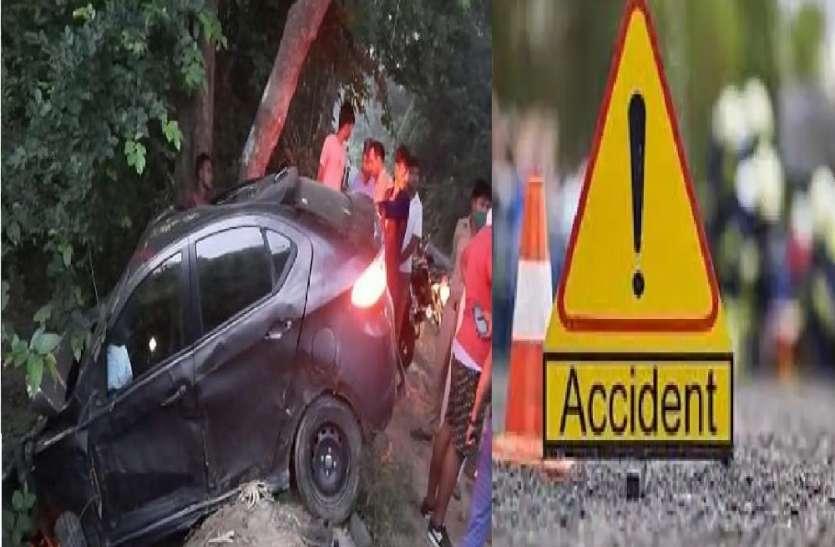 तड़के सुबह अनियंत्रित कार पेड़ से टकराई, आईटीबीपी के जवान की मौके पर मौत, 4 गंभीर रूप से घायल