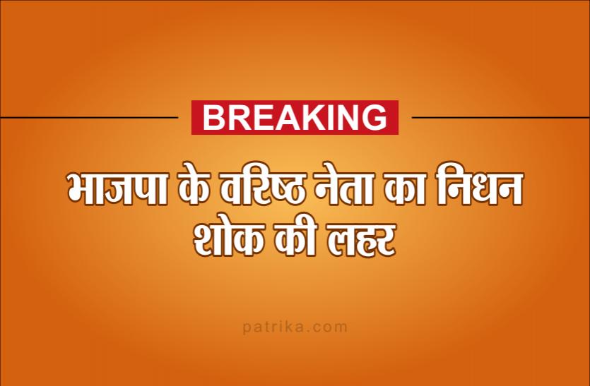 भाजपा नेता की सड़क दुर्घटना में मौत, पार्टी में शोक की लहर