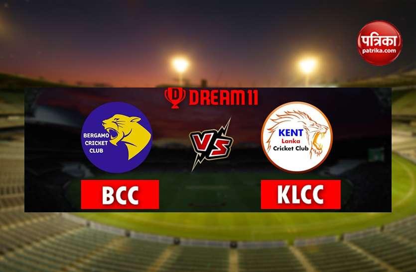 Dream 11 Today's Predictions: Best Team BCC vs KLCC in ECS T10 Rome Bergamo बेस्ट ड्रीम 11 टीम
