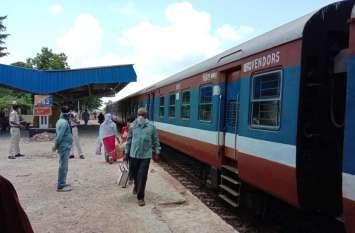 पांच महीने बाद रायपुर से केंवटी तक दौड़ी ट्रेन, बालोद से सिर्फ दो लोगों ने किया सफर, यह है ट्रेन का शेड्यूल
