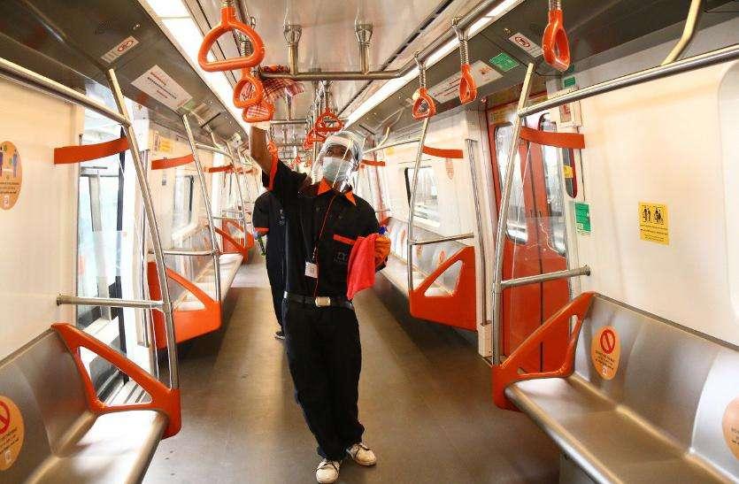 अहमदाबाद में मेट्रो ट्रेन हर स्टेशन पर बने क्वारंटीन कक्ष