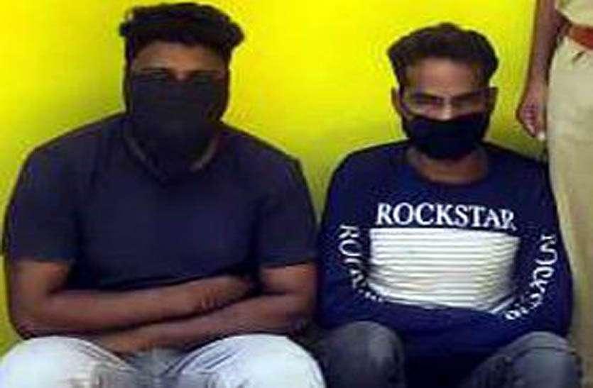 राजीव गांधी सेवा केन्द्र से सोलर प्लेट व बैट्रियां चुराने के आरोपी पुलिस गिरफ्त में