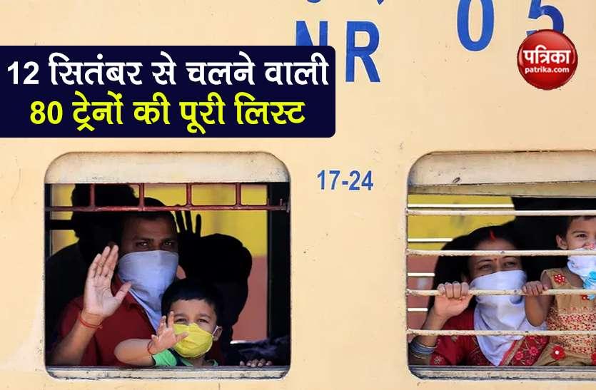 Indian Railways: 12 सितंबर से कहां-कहां चलेंगी स्पेशल ट्रेन? यहां देखें 80 ट्रेनों की पूरी लिस्ट