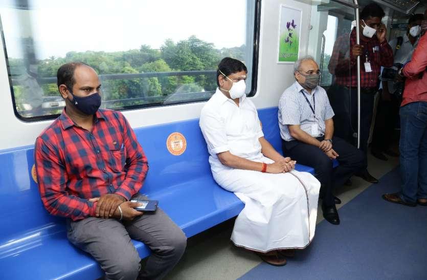 करीब छह महीने बाद आज से चेन्नई में शुरू हुई मेट्रो रेल सेवा
