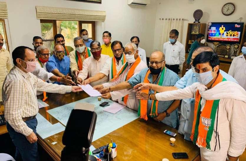 भाजपा ने सौंपा जिला कलेक्टर्स को ज्ञापन, सरकार को बताया जनविरोधी