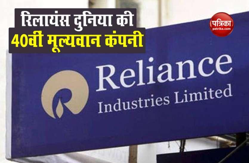 Reliance Industries ने पेप्सिको और फाइजर जैसी कंपनियों को पछाड़ा, बनी दुनिया की 40वीं मूल्यवान कंपनी