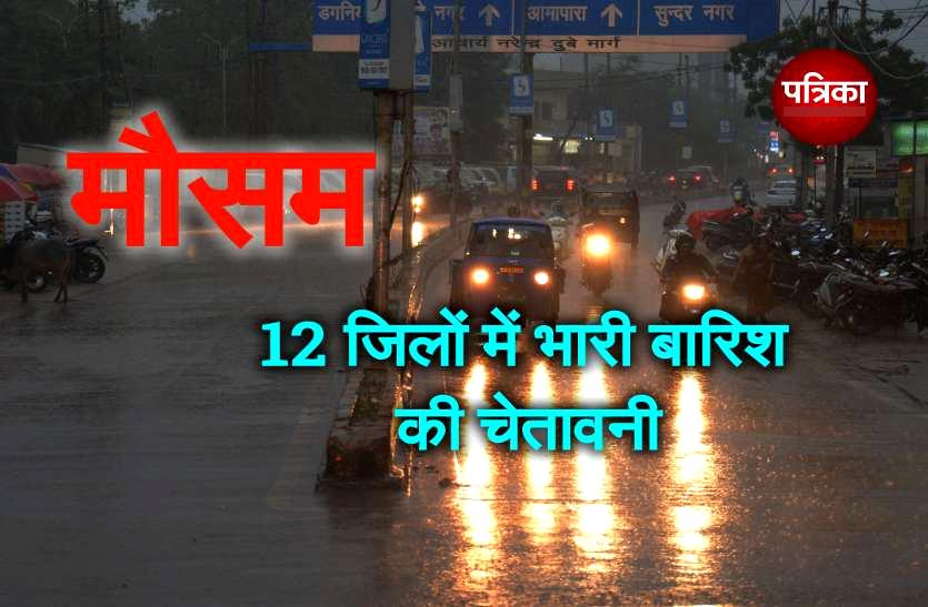 Rain Alert : मानसून की विदाई से पहले भारी बारिश के आसार, 12 जिलों में अलर्ट जारी