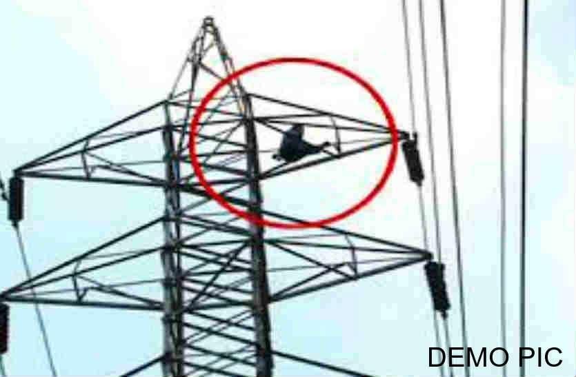पत्नी से नाराज पति 11 हजार केवीए बिजली के टावर पर चढ़ गया, फिर चला हाइटेंशन टावर पर हाई वोल्टेज ड्रामा