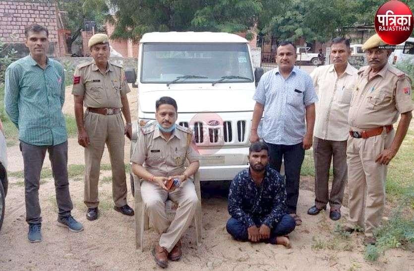 जालोर के गिरोह ने सांडेराव से जीप चुराई, गिरोह का पर्दाफाश, सरगना गुजरात में गिरफ्तार