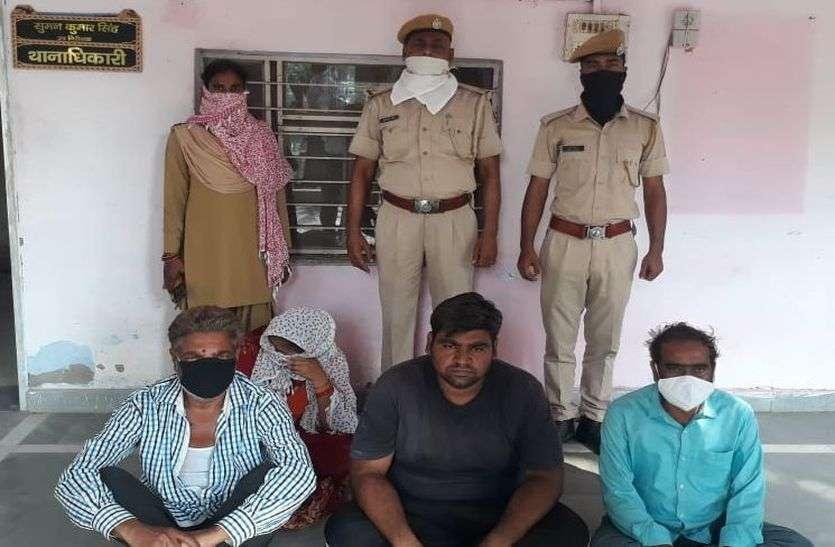 नौकरी के नाम पर ठगी करने वाले चार आरोपी गिरफ्तार