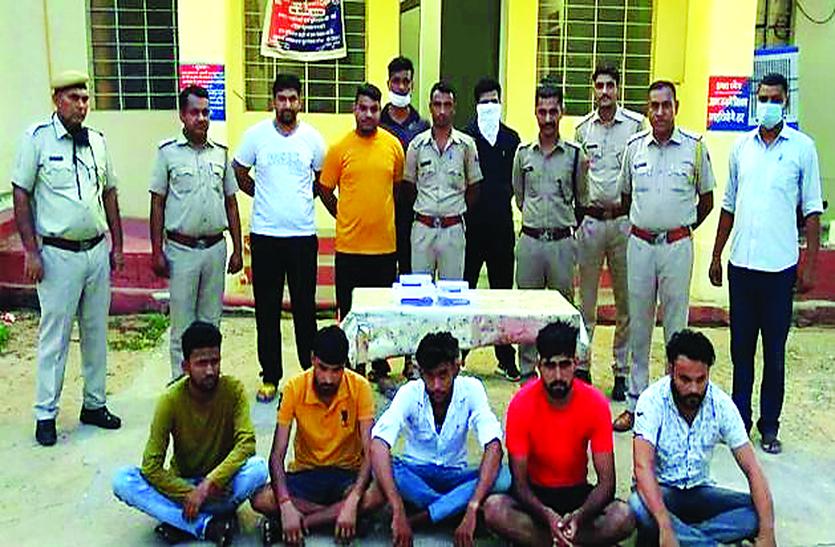 मध्यप्रदेश से चूरू में बेचने लाए थे अवैध हथियार, छह गिरफ्तार