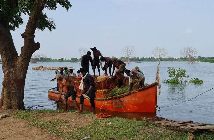 Big problem - यहां नावों की मदद से खेती करने को मजबूर किसान