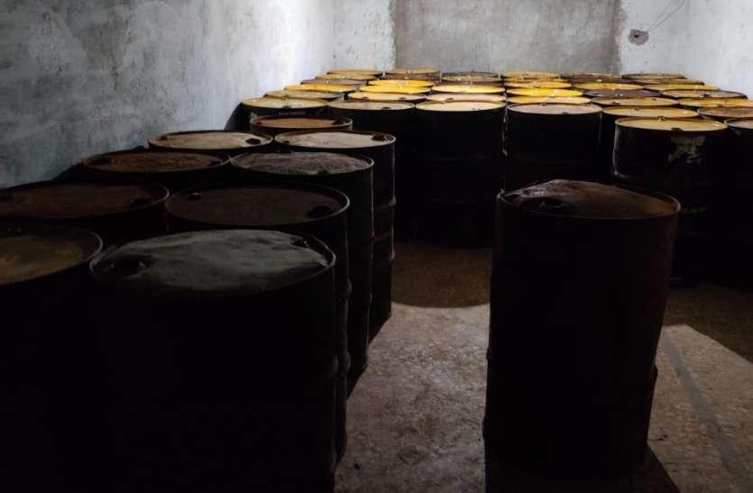 जबलपुर में मिट्टी तेल की कालाबाजारी, 8200 लीटर जब्त