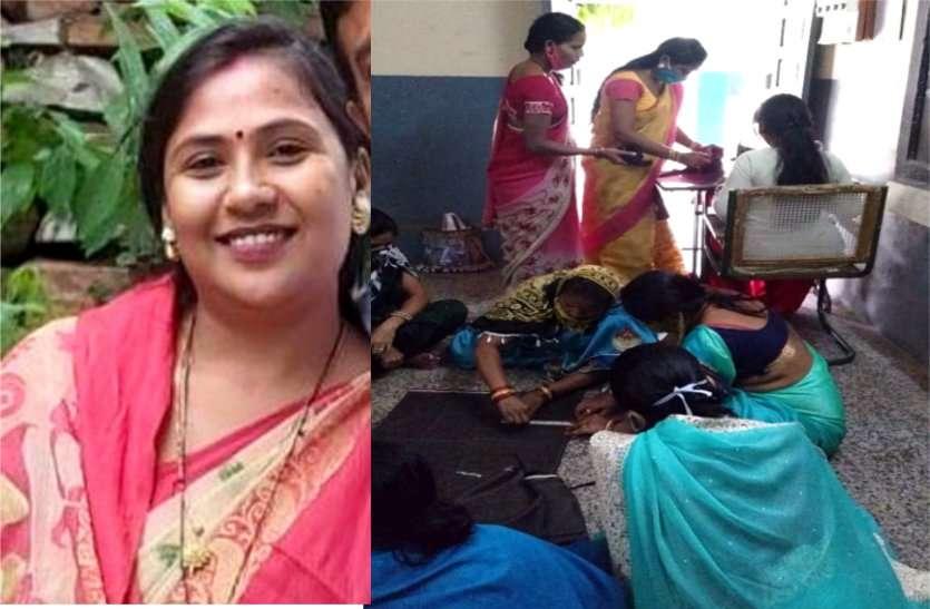 भिलाई की श्रद्धा पेशे से है घरेलू महिला पर संकट की घड़ी में सैकड़ों महिलाओं को नि:शुल्क सिलाई सिखाकर बना रही आत्मनिर्भर