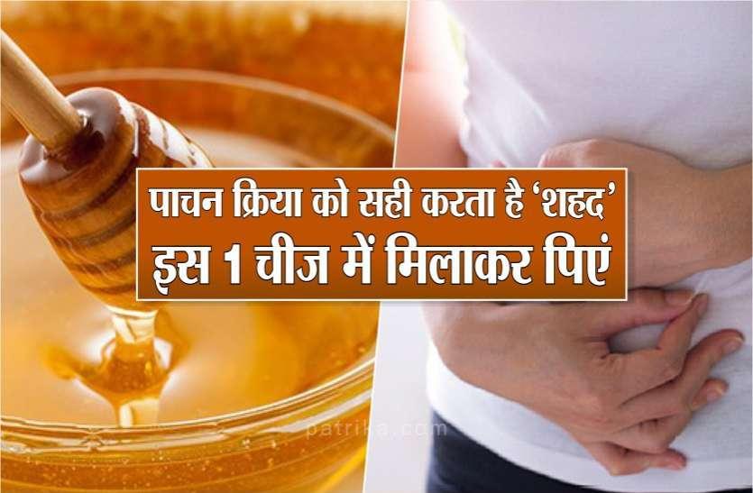 पाचन क्रिया को सही करता है शहद, गर्म दूध में मिलाकर पीने से होते हैं कई सारे फायदे