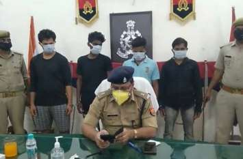 पुलिस और बदमाशों में मुठभेड़, चार लुटेरे गिरफ़्तार