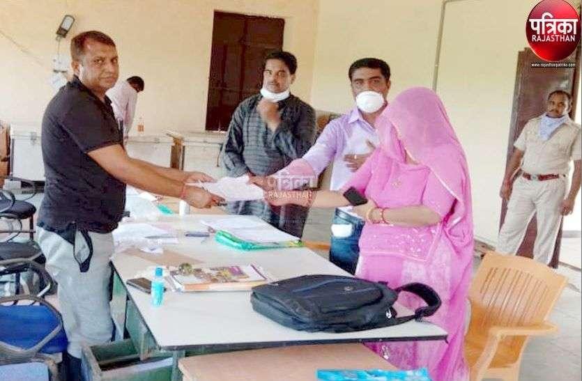 Panchayat Election 2020 : सरपंच व वार्डपंच प्रत्याशियों ने इष्टदेव के दरबार में मत्थाटेक दाखिल किया नामांकन