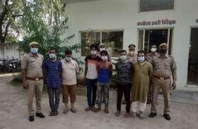 सपा नेता के प्लॉट में हो रही थी गोकशी, 6 गिरफ़्तार, भारी मात्रा में मीट बरामद
