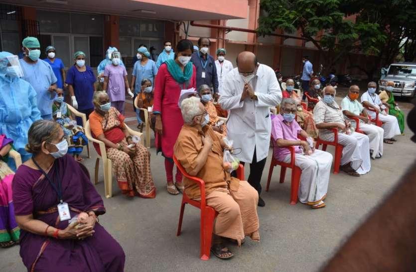 Chennai: कोरोना संक्रमण से लडऩे में बुजुर्गों ने दिखाया दम,29 बुजुर्ग कोरोना से जंग जीतकर लौटे