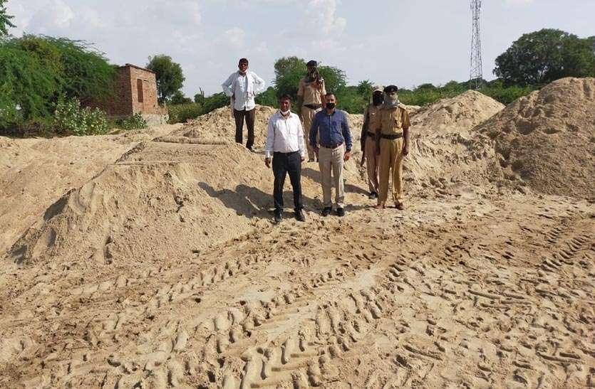 एसआईटी की बड़ी कार्रवाई, 4200 टन बजरी के अनाधिकृत स्टॉक को जब्त कर खनिज विभाग को किया सुपुर्द