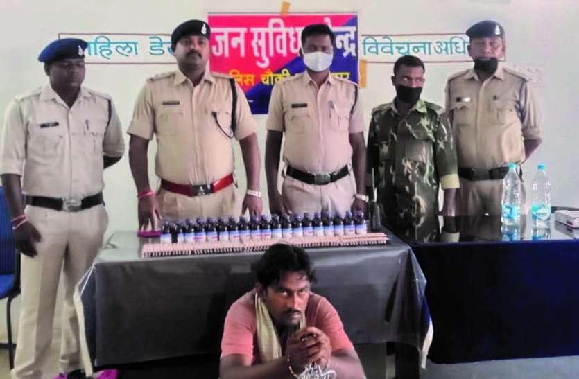 अवैध नशीली दवाइयां व कफ सिरप बेचने ग्राहक की तलाश कर रहे युवक को पुलिस ने किया गिरफ्तार