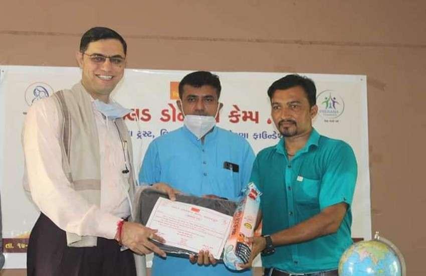पालनपुर शहर में आयोजित शिविर।