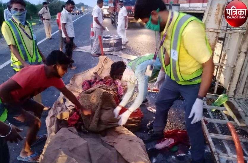 पाली : मिनी ट्रक पलटा, चार की मौत,10 घायल