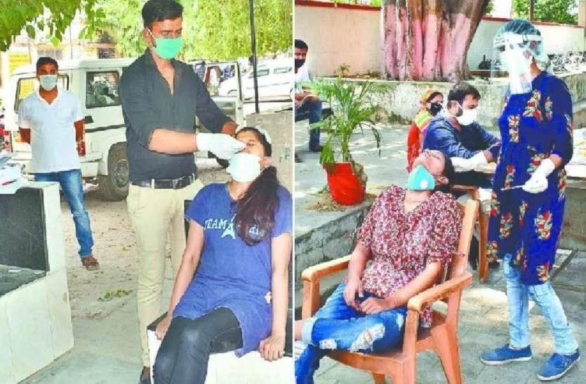 स्वास्थ्य विभाग की बड़ी लापरवाही, कोरोना संक्रमण जांच के लिए बिना पीपीई किट पहने स्वास्थ्यकर्मी ले रहे सैम्पल