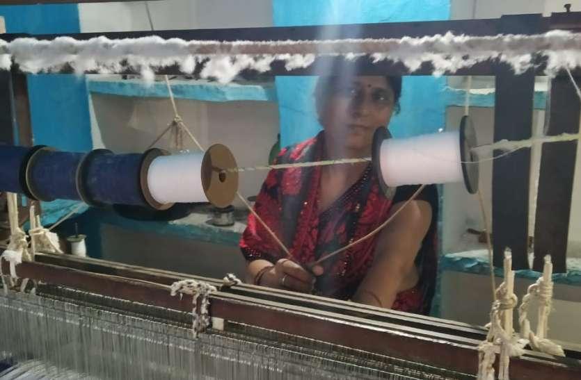 15 साल बाद फिर शुरु हुआ हरपालपुर इलाके में हरकरघा उद्योग