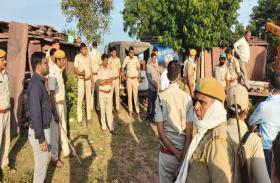 अवैध पत्थर जब्त करने की वन विभाग की टीम का ग्रामीणों ने किया विरोध, दिनभर आरोपियों की तलाश में घूमी पुलिस