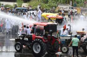 ट्रैक्टर यात्रा लेकर दिल्ली की ओर चले किसान पुलिस से भिड़े, वाटर कैनन से प्रहार