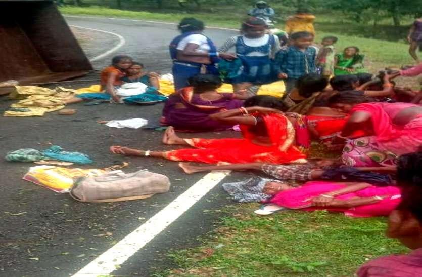 कवर्धा में ट्रैक्टर ट्रॉली पलटने से 19 लोग घायल, पारिवारिक कार्यक्रम से लौटते वक्त हादसा, चार की हालत गंभीर