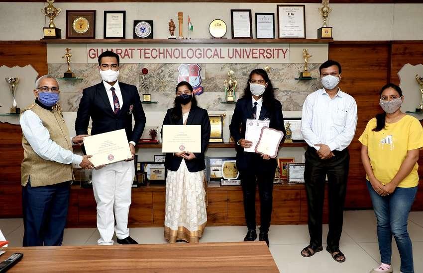 जीटीयू के दो विद्यार्थियों को मिला एनएसएस का उच्चतम राष्ट्रीय पुरस्कार