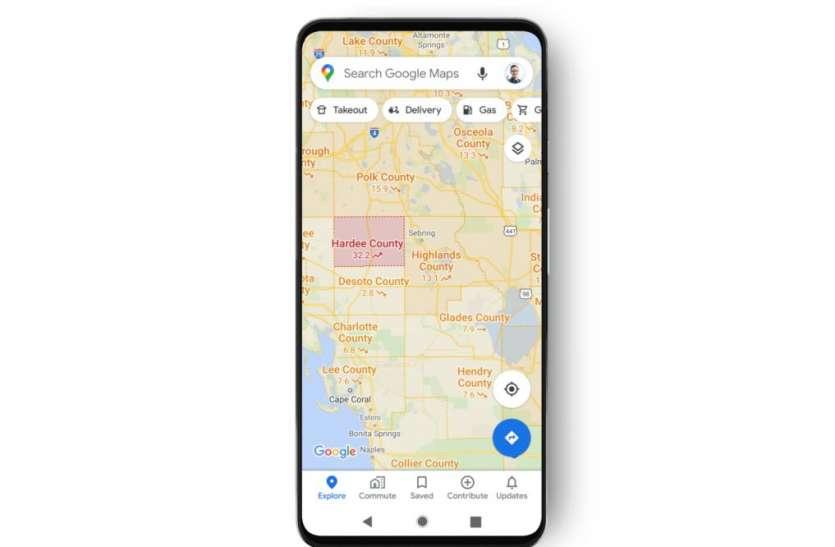 अब गूगल मैप भी दिखाएगा आपके क्षेत्र में सबसे ज़्यादा कोरोना प्रभावित क्षेत्र