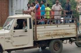 कोरोना का असर कम हुआ तो ट्रक व टेंपों से संघ प्रदेश  में पहुंच रहे मजदूर