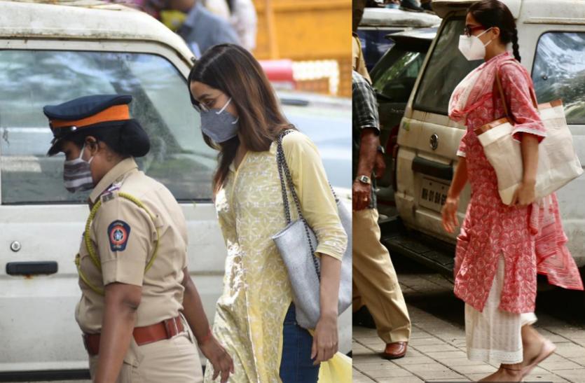 Shraddha Kapoor, Sara Ali से एनसीबी की पूछताछ खत्म, जोनल कार्यालय से बाहर जाते हुईं स्पॉट