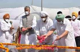 नए कृषि कानून के खिलाफ मुख्यमंत्री धरने पर, पहले शहीद भगत सिंह की समाधि पर पुष्प चढ़ाए