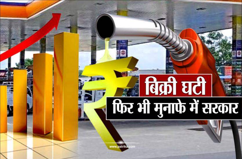 6 माह में 35 फीसदी घटी पेट्रोल-डीज़ल की बिक्री, फिर 7% बढ़ा सरकार का मुनाफा, जानिए वजह