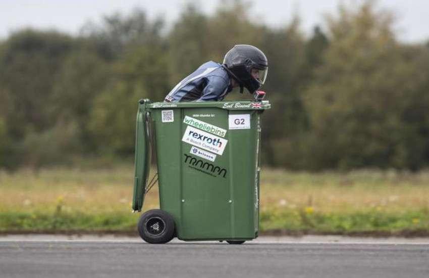 sets wheels on bin guinness world record