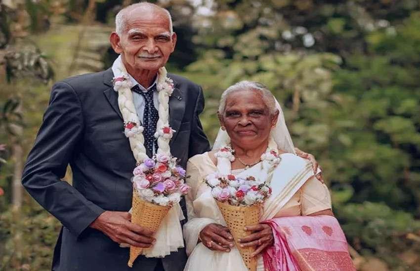 elderly couple first wedding photoshoot