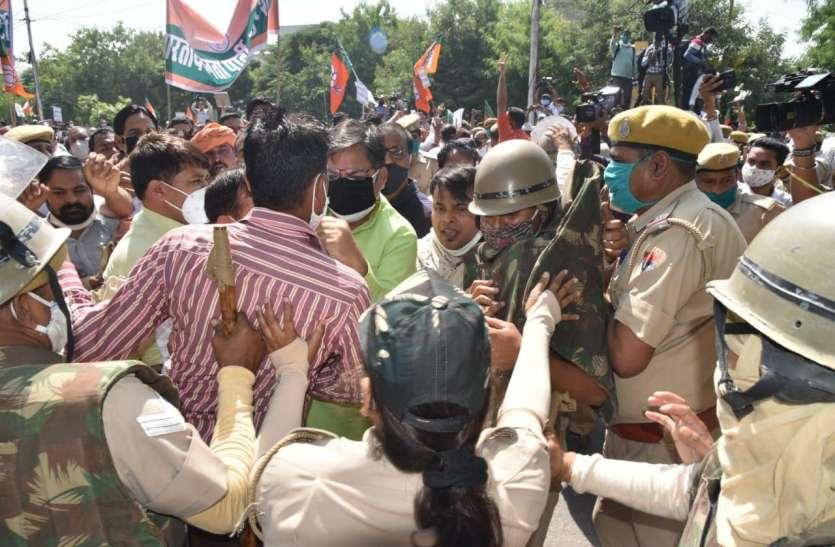 भाजपा में सबकुछ ठीक नहीं, हल्ला बोल कार्यक्रम में फिर दिखी गुटबाजी